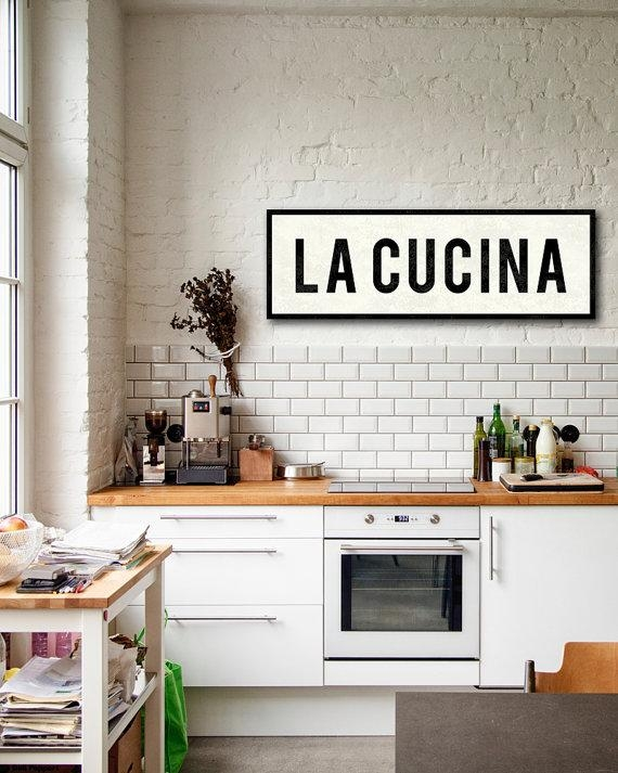 La Cucina Sign Kitchen Sign Italian Kitchen Decor Tuscan Within Cucina Wall Art (View 12 of 20)
