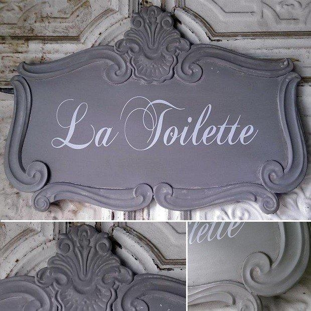 La Toilette Sign | Tin Sign | French Bathroom Sign | French Wall Within Country French Wall Art (Image 20 of 20)
