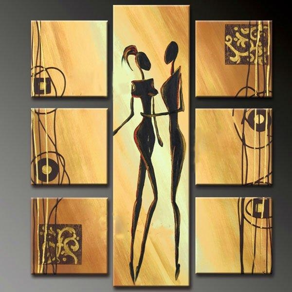 Large 7 Piece Canvas Wall Art Sets Inside 7 Piece Canvas Wall Art (View 4 of 20)