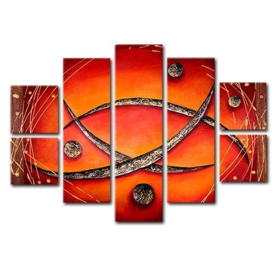Large 7 Piece Canvas Wall Art Sets Within 7 Piece Canvas Wall Art (View 14 of 20)