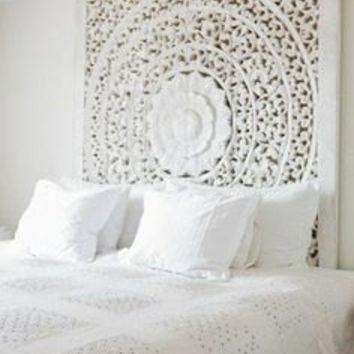 Large Bali Or Thai Carved Wood Wall Art From Siamsawadee On Etsy In White Wooden Wall Art (View 17 of 20)
