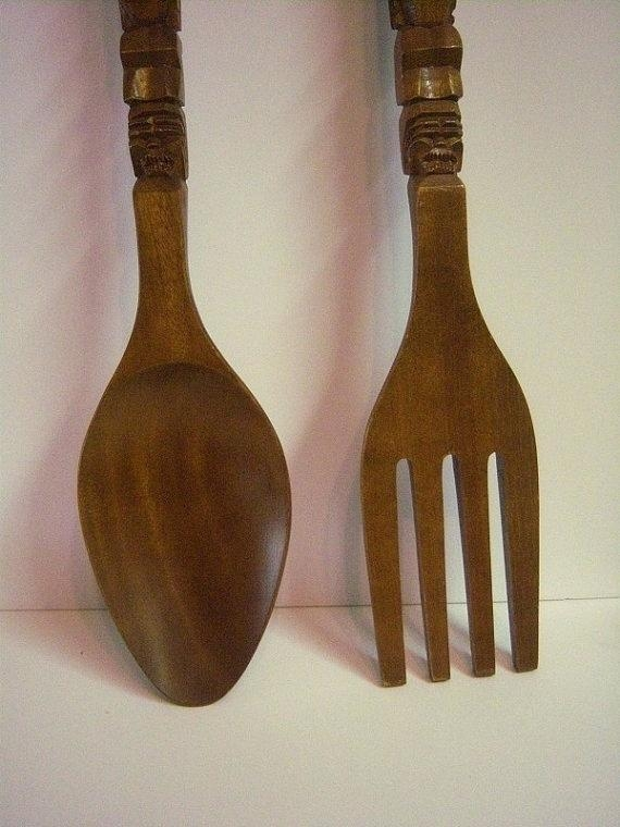 Large Decorative Knife Fork And Spoon – Clared (View 19 of 20)