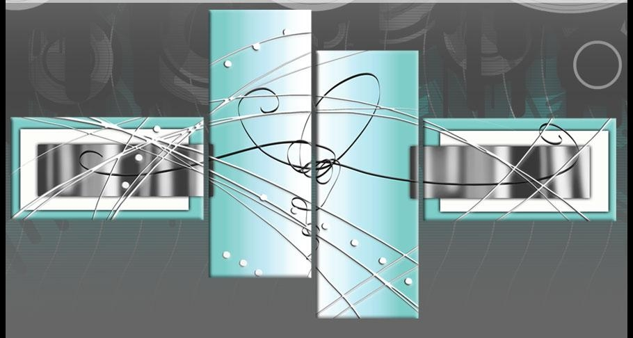 Large Duck Egg Blue Grey White Abstract Canvas Wall Art Multi 4 Pertaining To Duck Egg Blue Wall Art (Image 13 of 20)