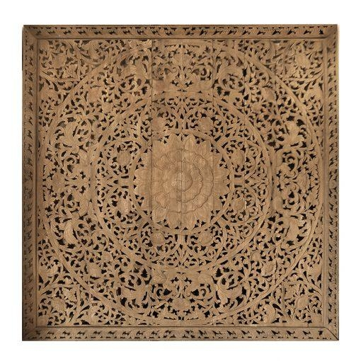 Large Grand Carved Wooden Wall Art Or Ceiling Panel – Siam Sawadee Within Wood Carved Wall Art Panels (View 13 of 20)