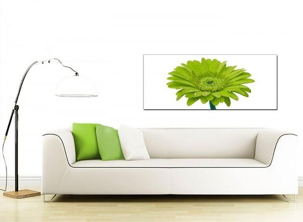 Large Green Canvas Prints Of A Daisy Flower With Green Canvas Wall Art (Image 16 of 20)