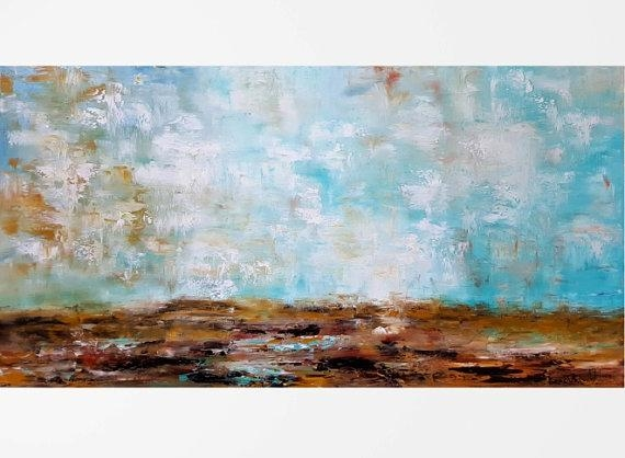 Large Horizontal Wall Art Large Abstract Art Large Art Pertaining To Large Horizontal Wall Art (Image 10 of 20)