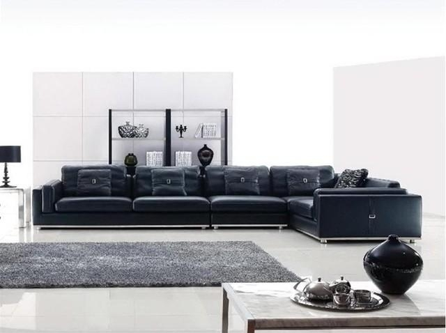 Large Leather Sofas And Large Sectional Couch Sectional Sofa Vg954 In Black Modern Sectional Sofas (Image 12 of 20)