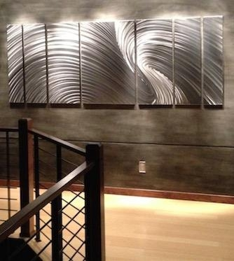 Large Metal Art; Huge Public Displays, Corporate Installs | Mad For Oversized Metal Wall Art (Image 8 of 20)
