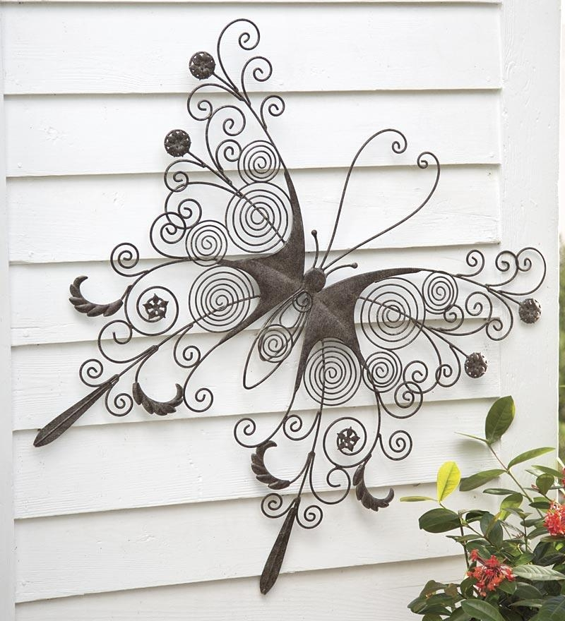 Featured Image of Large Metal Butterfly Wall Art