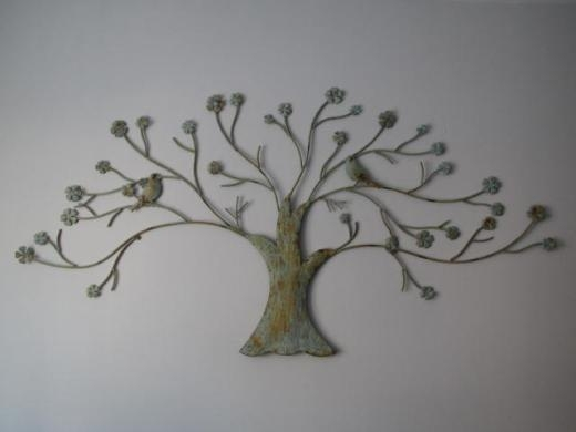 Large Metal Tree Wall Decoration | Roselawnlutheran In Metal Tree Wall Art Sculpture (Image 10 of 20)