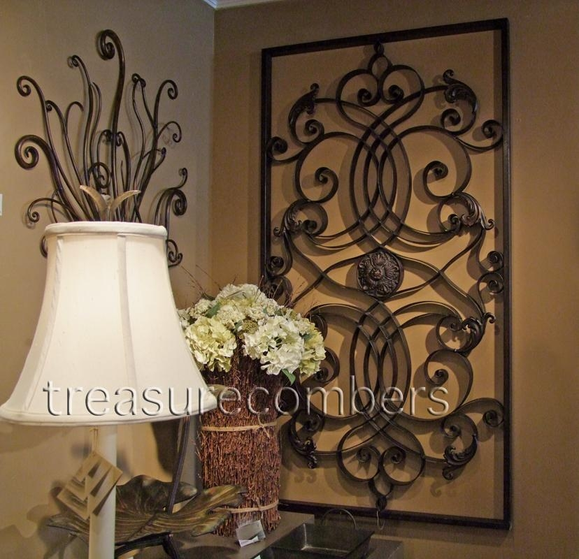 Large Metal Wall Decor | Roselawnlutheran Intended For Tuscan Wrought Iron Wall Art (Image 14 of 20)