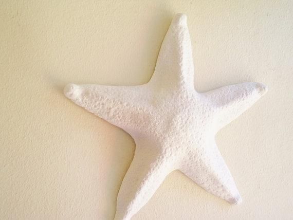 Large Starfish Wall Hanging Sculpture Large Sea Shell Beach Inside Large Starfish Wall Decors (Image 8 of 20)