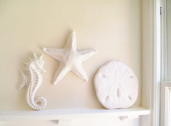 Large Starfish Wall Hanging Sculpture Large Sea Shell Beach Throughout Large Starfish Wall Decors (Image 9 of 20)