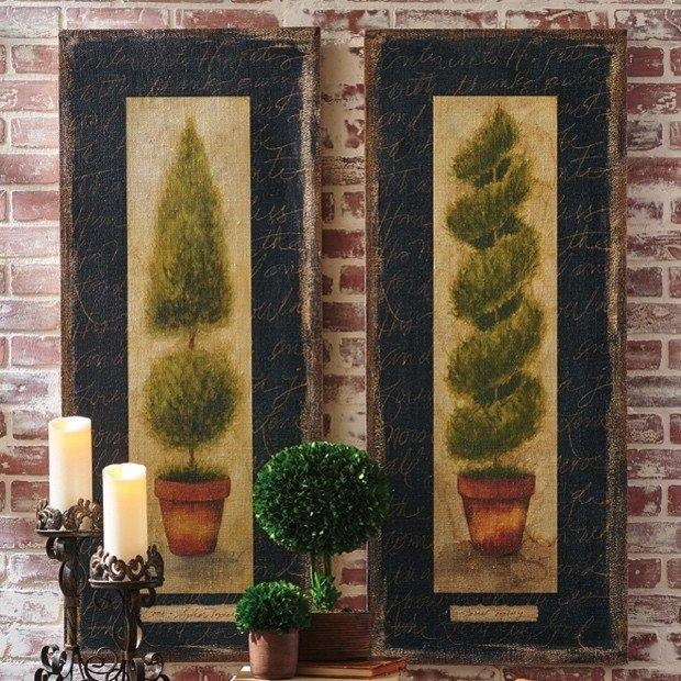 Large Topiary Wall Art, Set Of 2 | Antique Farmhouse Within Topiary Wall Art (View 6 of 20)