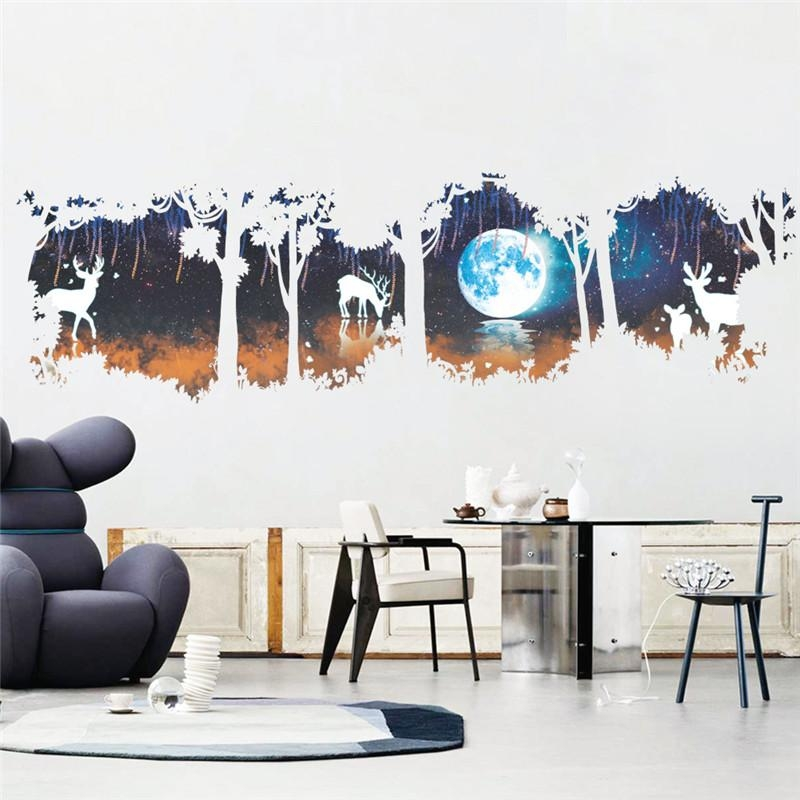 Large Vintage Wall Stickers Promotion Shop For Promotional Large For Large Vintage Wall Art (Image 13 of 20)