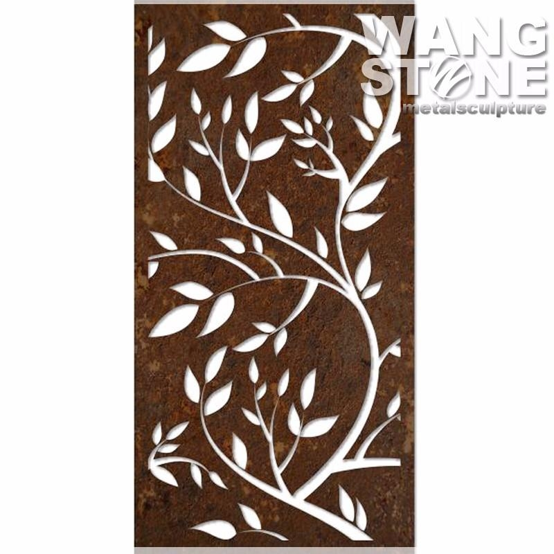 Laser Cut Corten Steel Bamboo Metal Decoration Wall Art – Buy With Bamboo Metal Wall Art (View 16 of 20)