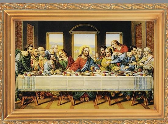Last Supper Antique Gold Framed Print Framed Art, Last Supper From Throughout Last Supper Wall Art (Image 6 of 20)