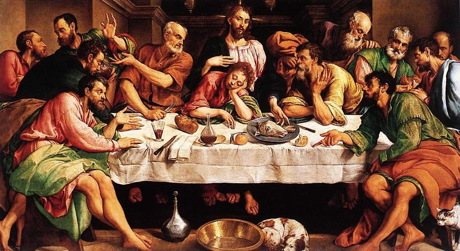 Last Supper Digital Artjacopo Bassano In Last Supper Wall Art (Image 7 of 20)
