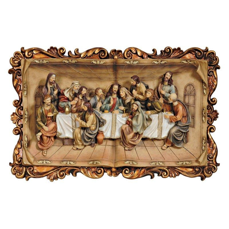 Last Supper Wall Plaque In 3D – 29W X 18.5H In (Image 10 of 20)