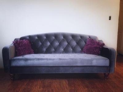 Latest Ava Velvet Tufted Sleeper Sofa Ava Velvet Tufted Sleeper Throughout Ava Tufted Sleeper Sofas (Image 12 of 20)