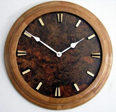 Laughing Coyote Woodworks – Art Deco Wall Clock Throughout Art Deco Wall Clocks (Image 13 of 20)