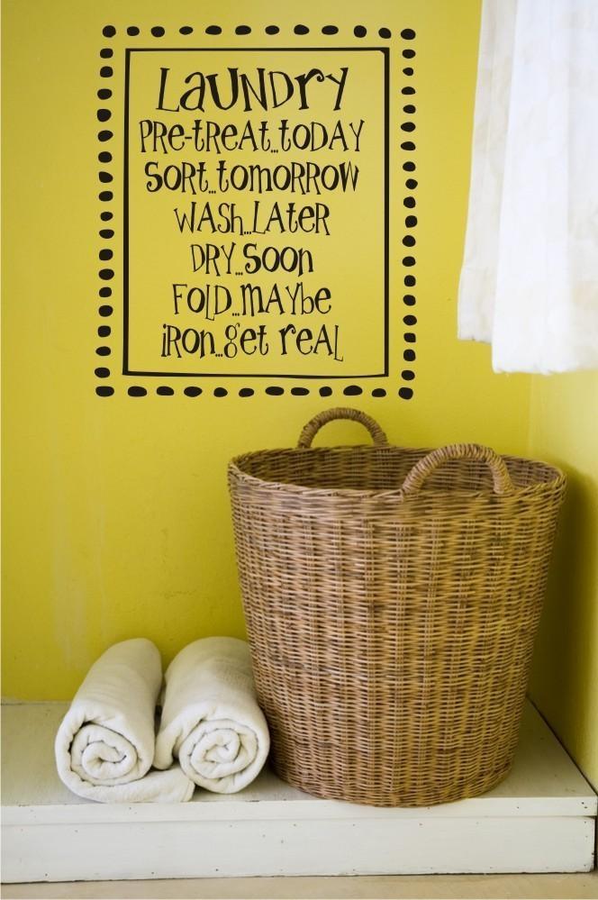 Laundry Room Vinyl Wall Art Vinyl Lettering Vinyl Decal With Regard To Laundry Room Wall Art (Image 12 of 20)