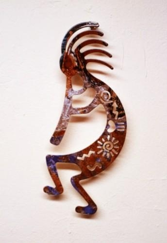 "Lazart 8"" Story Kokopelli Metal Wall Art – Elaine's Of Old Town With Regard To Lazart Metal Wall Art (Image 7 of 20)"