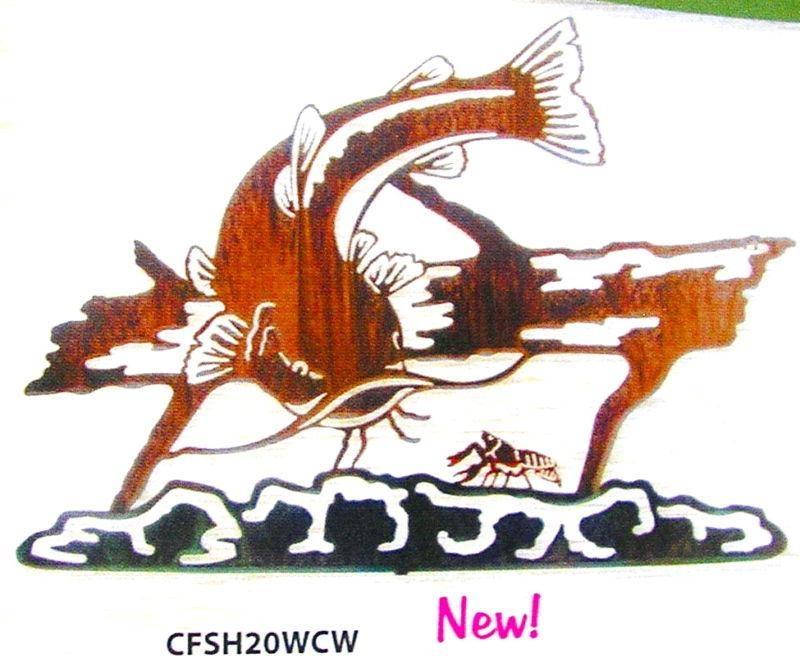 Lazart Metal Art Catfish Wall Hanging Home Decor | Ebay Pertaining To Lazart Metal Art (View 19 of 20)