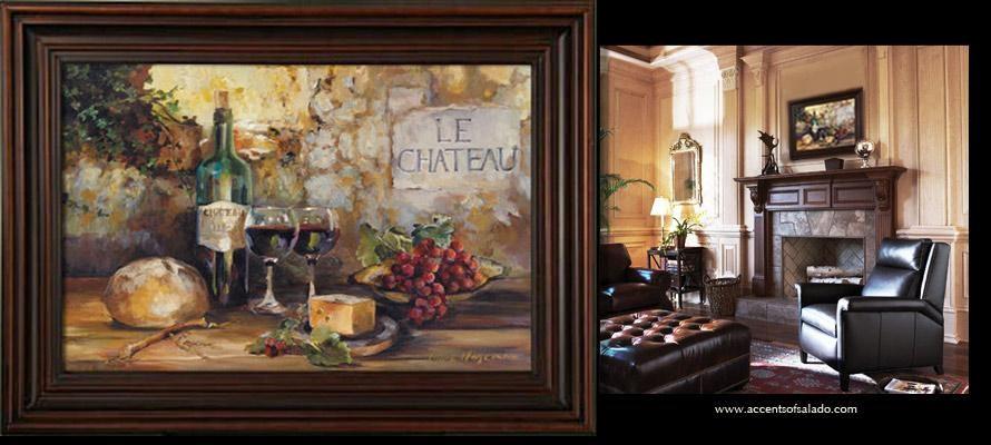 Le Chateau 1787 Old World Artwork Throughout Wine Theme Wall Art (View 3 of 20)