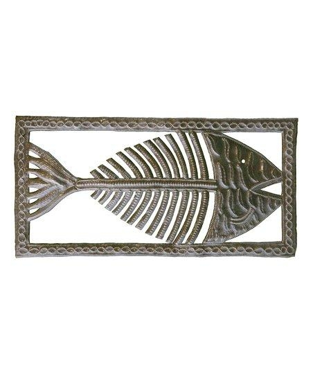 Le Primitif Galleries Fish Bone Wall Art | Zulily Pertaining To Fish Bone Wall Art (Image 16 of 20)