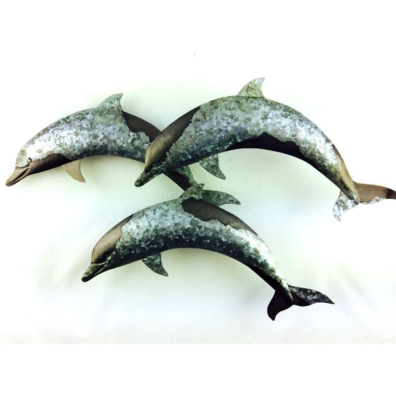 Leaping Dolphins Wall Art Decor – Metal – Coastalhome.co (Image 13 of 20)