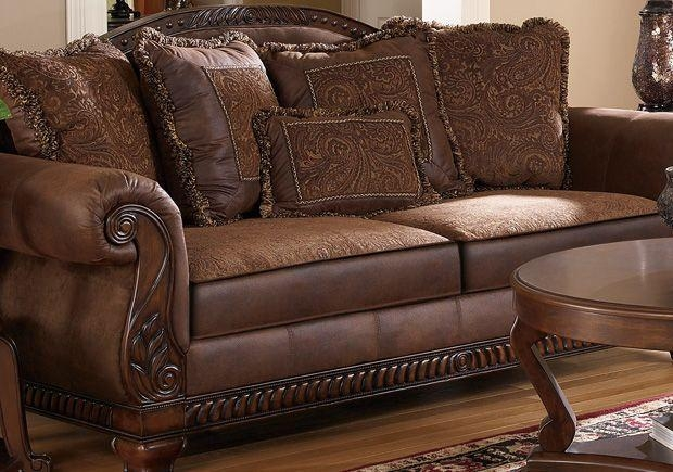 Leather And Fabric Sofa Savings | Fabric Sofa, Leather Sofas And For Bradington Truffle Sofas (Image 17 of 20)