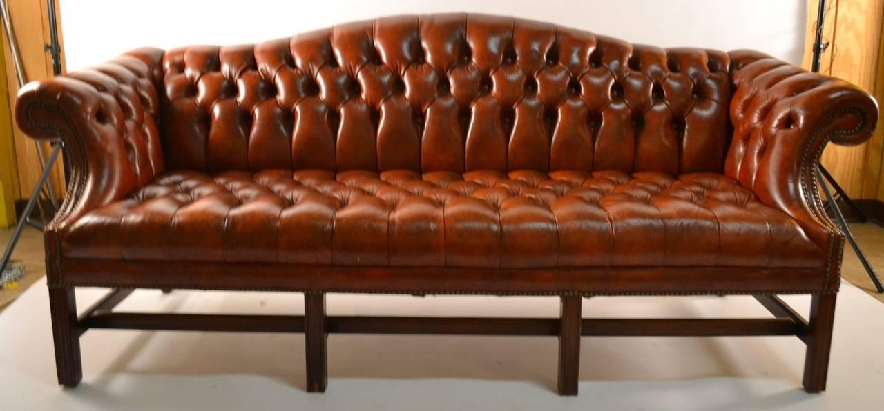 Leather Camel Back Sofa At 1Stdibs In Camelback Leather Sofas (Image 13 of 20)