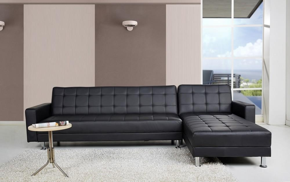 Leather Corner Chaise Sofa Bed Uk – Thesecretconsul Inside Black Leather Chaise Sofas (View 19 of 20)