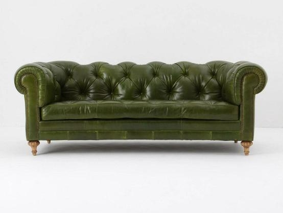 Leather Sectional Green Sofa: 11 Inspiring Green Leather Sectional Within Green Leather Sectional Sofas (Image 16 of 20)