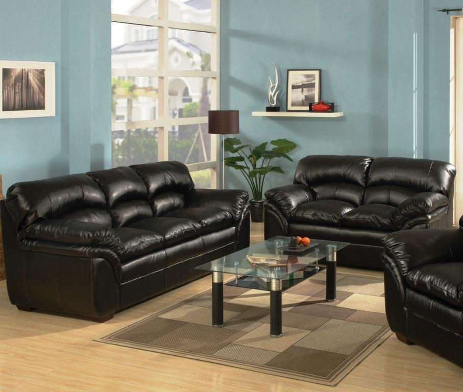 Leather Sofa And Loveseat Set – House Decorations And Furniture Pertaining To Black Leather Sofas And Loveseats (Image 13 of 20)