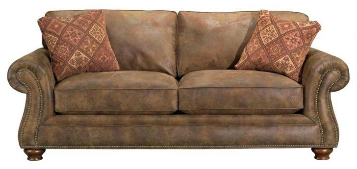 Leather Sofa ~ Broyhill Sofa Leather And Fabric Raphael 6636 Inside Broyhill Perspectives Sofas (Image 16 of 20)