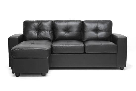 Leather Sofas And Sectionals With Black Leather Chaise Sofas (View 20 of 20)