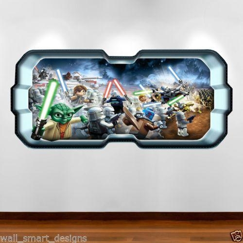Lego Star Wars 3D Yoda Battle Full Colour Wall Art Sticker Decal With  Regard To Lego Part 14