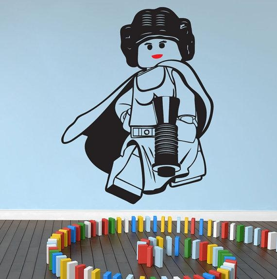 Lego Star Wars Princess Leia Wall Art Wall Stickersdecal For Lego Star Wars Wall Art (View 4 of 20)