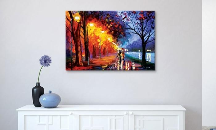 Leonid Afremov Gallery Wrapped Canvas Wall Art | Groupon Pertaining To Groupon Wall Art (Image 10 of 20)