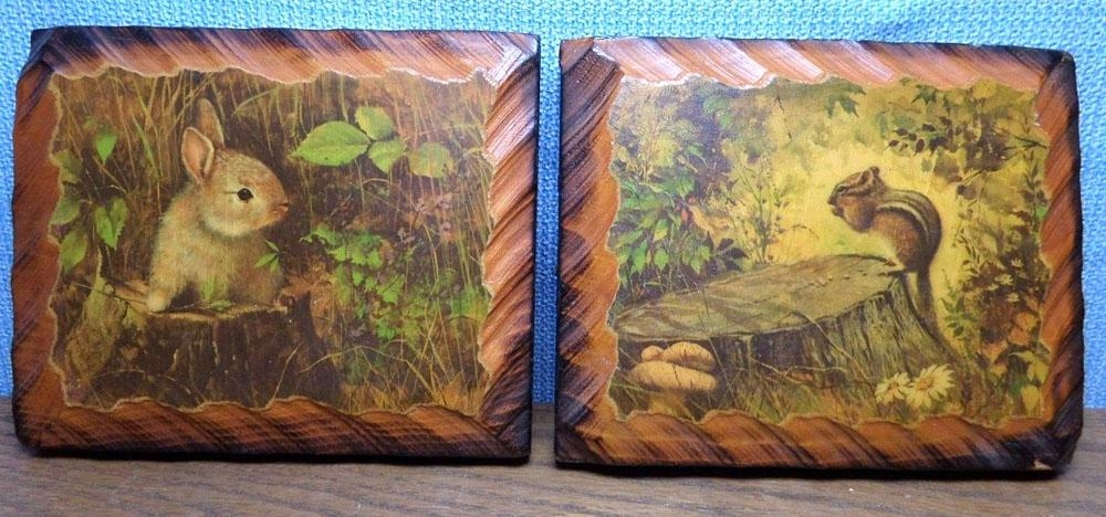 Let's Start A Trend! Vintage Decoupaged Wood Wall Art | Vintage With Regard To Decoupage Wall Art (Image 15 of 20)