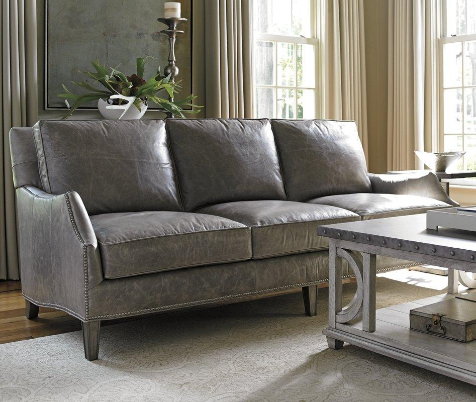 Lexington Oyster Bay Ashton Leather Sofa & Reviews | Wayfair In Bomber Leather Sofas (Image 14 of 20)
