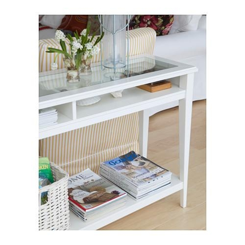 Liatorp Console Table – White/glass – Ikea In Computer Sofa Tables (Image 10 of 20)