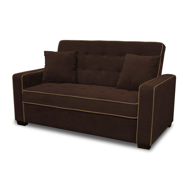 Lifestyle Solutions Monroe Convertible Queen Sofa In Java – Saags Pertaining To Convertible Queen Sofas (Image 10 of 20)