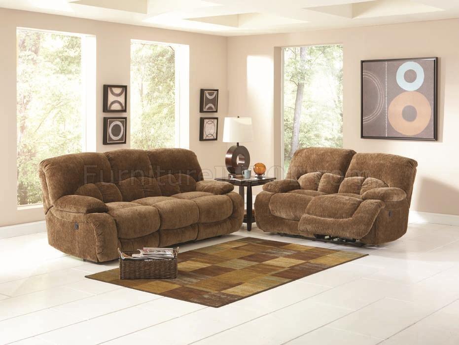 Light Brown Velvet Fabric Modern Reclining Sofa & Loveseat Set Within Brown Velvet Sofas (Image 15 of 20)