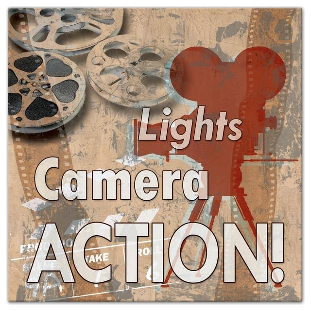 "Light Camera Action Film Reel"" Canvas Wall Art, 24""x24 Intended For Film Reel Wall Art (Image 14 of 20)"