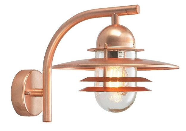Lighting Design Ideas: Real Copper Outdoor Wall Lights In Awesome Regarding Copper Outdoor Wall Art (Image 12 of 20)