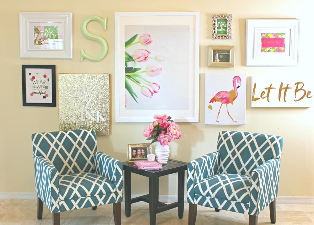 Lilly Pulitzer Inspired Wall Art Collage | Diary Of A Debutante For Vibrant Wall Art (View 18 of 20)
