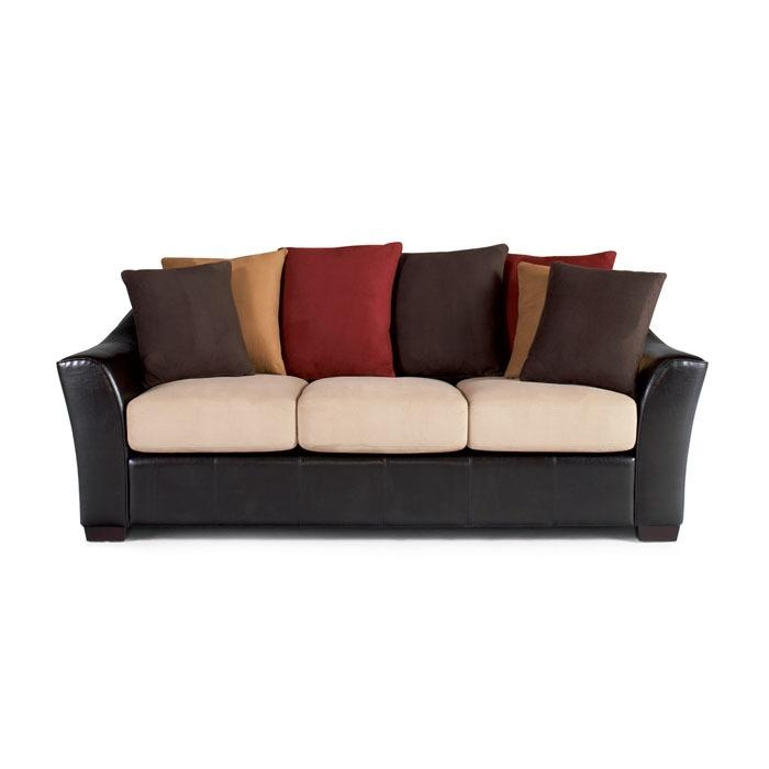 Lily Contemporary Sofa With Loose Pillow Back At Brookstone—Buy Now! With Regard To Loose Pillow Back Sofas (Image 10 of 20)